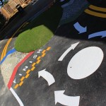 School racetrack for bikes & trikes