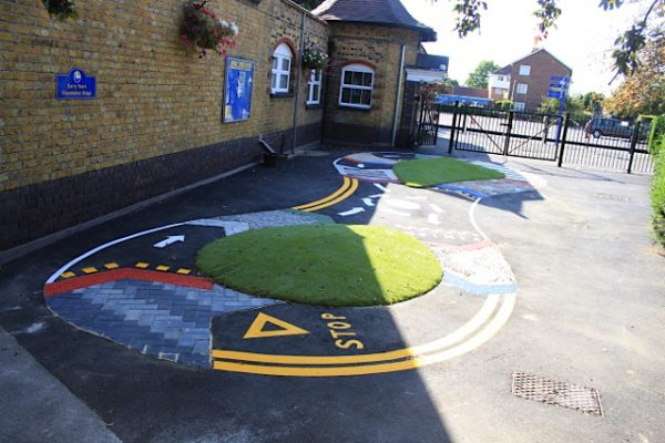 School racetrack for bikes & trikes