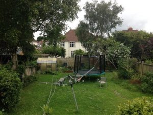 Before shot of garden in Henleaze Bristol