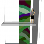Living Wall London design perspective drawing