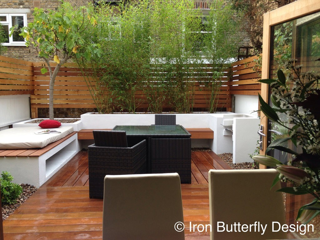 Small urban garden design before after iron butterfly for Urban garden design