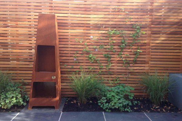 Shirehampton garden outdoor fireplace