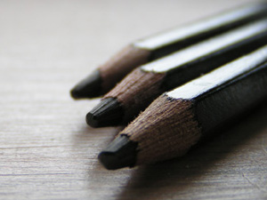 Pencils to illustrate the concept plan stage of garden design